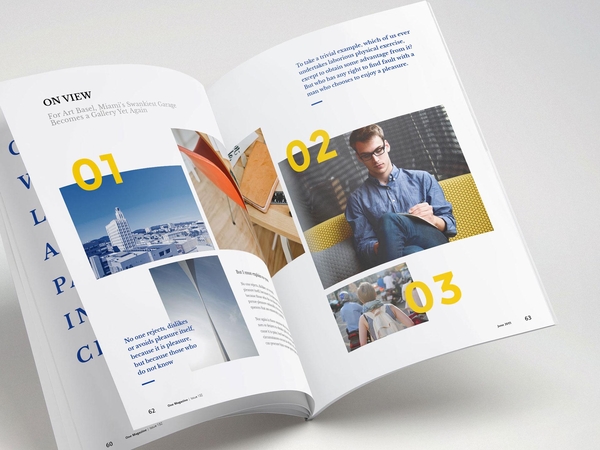 Magazine colored design
